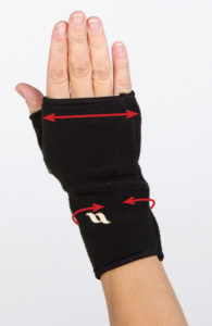 wrist with thumb sizing